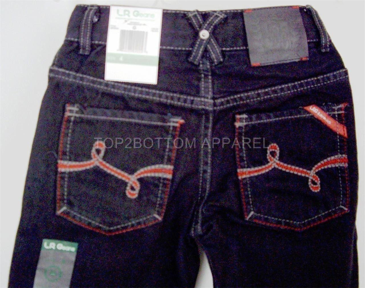 LRG LRGeans Boys Black Size 4 Jeans Elastic Waistband 5 pocket LRG logo NWT