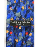 Jos A Banks Miracle Collection Mayrone Negash Blue Silk Necktie New With... - $4.99