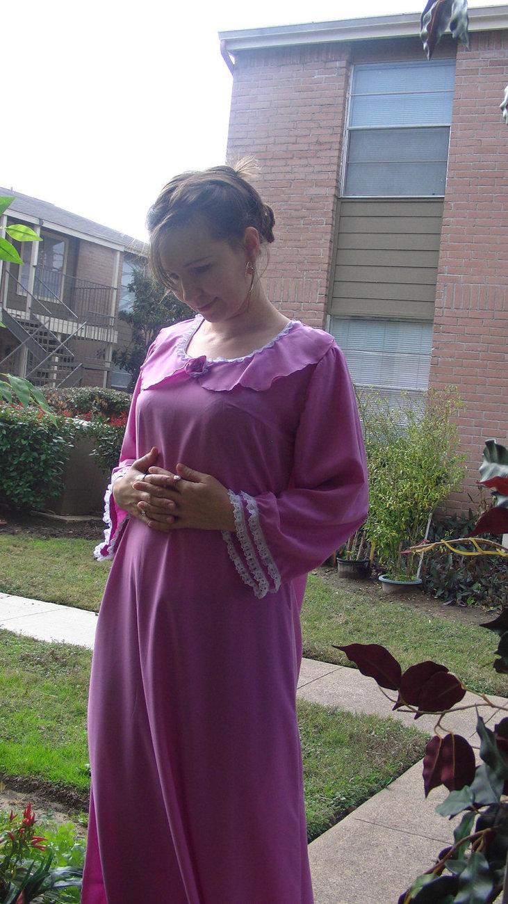 Handmade Clothing Women Pink Cotton Long Maxi Islamic Muslime Dress S M Tunic
