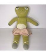 "Blabla Frog Ballerina Knit Plush Soft Baby Toy Green Pink 18"" Stuffed An... - $57.99"