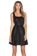 New Womens 10 NWT Designer Dress Minnie Diane Von Furstenberg Black Metallic - $314.10