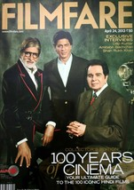 Filmfare 24 April 2013 Shah Rukh Khan Amitabh Bachchan Dilip Kumar for c... - $16.99