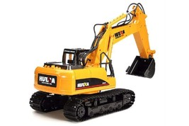 Toy RC Excavator Car Charging Remote Control Battery Powered Metal Plast... - $124.13