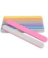 Nail File Buffer Sponge Mix Color Straight Polish Block 50pcs/lot 100/18... - $26.15
