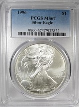 1996 Silver Eagle Doubled Die Obverse PCGS MS67 Coin AH378 - $469.07