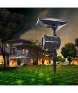 Waterproof Solar Power Laser Lights Projector Outdoor LED Garden Party C... - $45.99