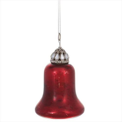 Primary image for Glass RED BELL Christmas Ornament