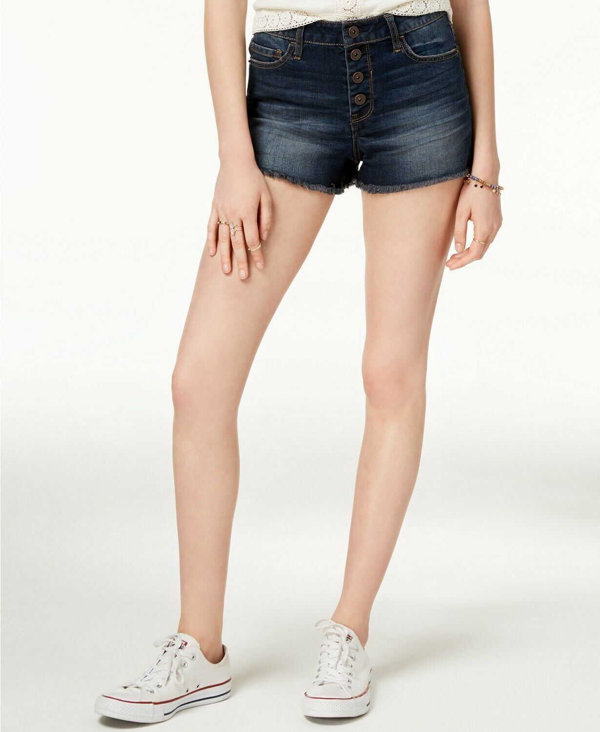 Primary image for American Rag Juniors' Button-Fly Denim Shorts ar juan blue