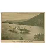 VTG Old Postcard Steamer Ship Hendrick Hudson Above Bear Mountain Hudson... - $13.67