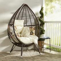 Modern Outdoor Chair Unique Teardrop Design Veranda Patio Seat Porch Fur... - $502.91