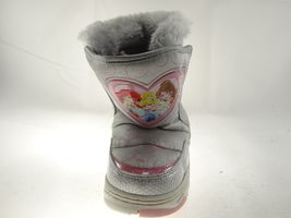Disney Nala Silver Gray Size 9/10 Girls Princess Winter & Snow Boots image 5