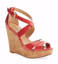 Michael Kors Sienna Strapy CORK Wedge Patent Leather SANDAL SZ 10 NEW - $71.20