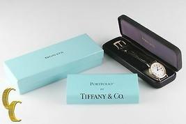 Tiffany & Co. Homme Ss or Électrodéposer Portfolio Quartz Watch W / Boîte & - $509.83