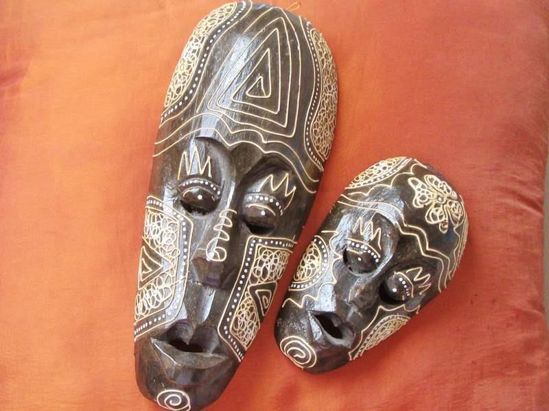 2 Antique Tribal African Wood Hand Carved And 50 Similar Items