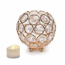 Manvi Crystal Votive Candle Holders, Bowl Tealight Candlesticks Holders ... - $13.24