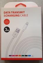3 Mètres 3M Rapide Câble Données USB chargeur pour Samsung S4 5 6 7 Sony... - $6.73