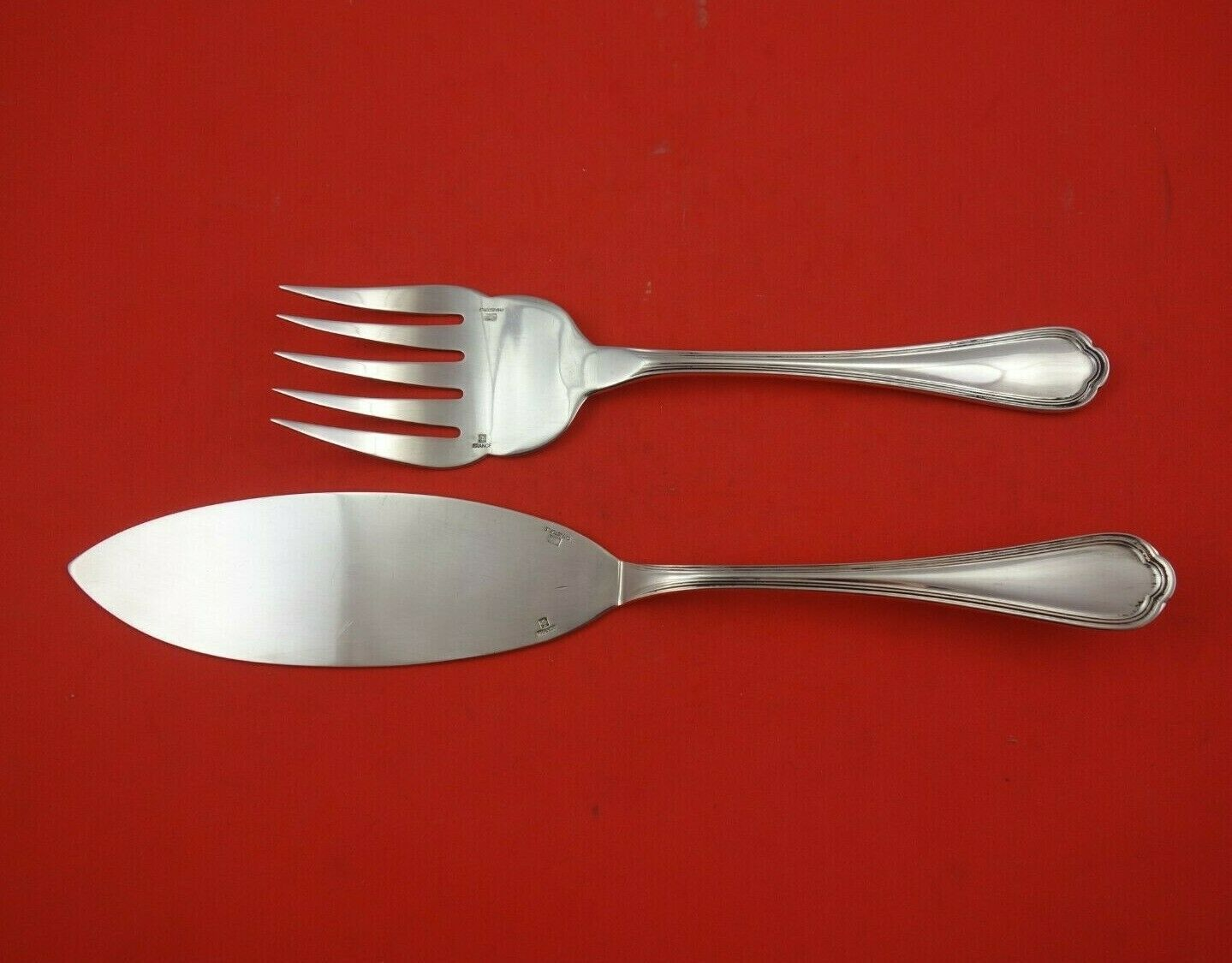 Primary image for Spatours by Christofle Silverplate Fish Serving Set 2-Piece Fork and Server