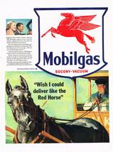 Vintage 1944 Magazine Ad Mobilgas Quality Everyone Wants / Heinz Bay Foods - $5.93