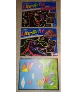 Lite Brite Picture Refills Scooby-Doo Jurassic Park. 38 Sheets - $21.77