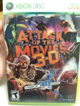 Attack of the Movies 3-D (Microsoft Xbox 360, 2010) Complete w/ 3d Glasses - $8.99