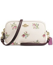 NWT Coach Crossbody Clutch with Cross Stitch Floral Print $175 - £80.71 GBP