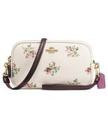 NWT Coach Crossbody Clutch with Cross Stitch Floral Print $175 - £78.08 GBP