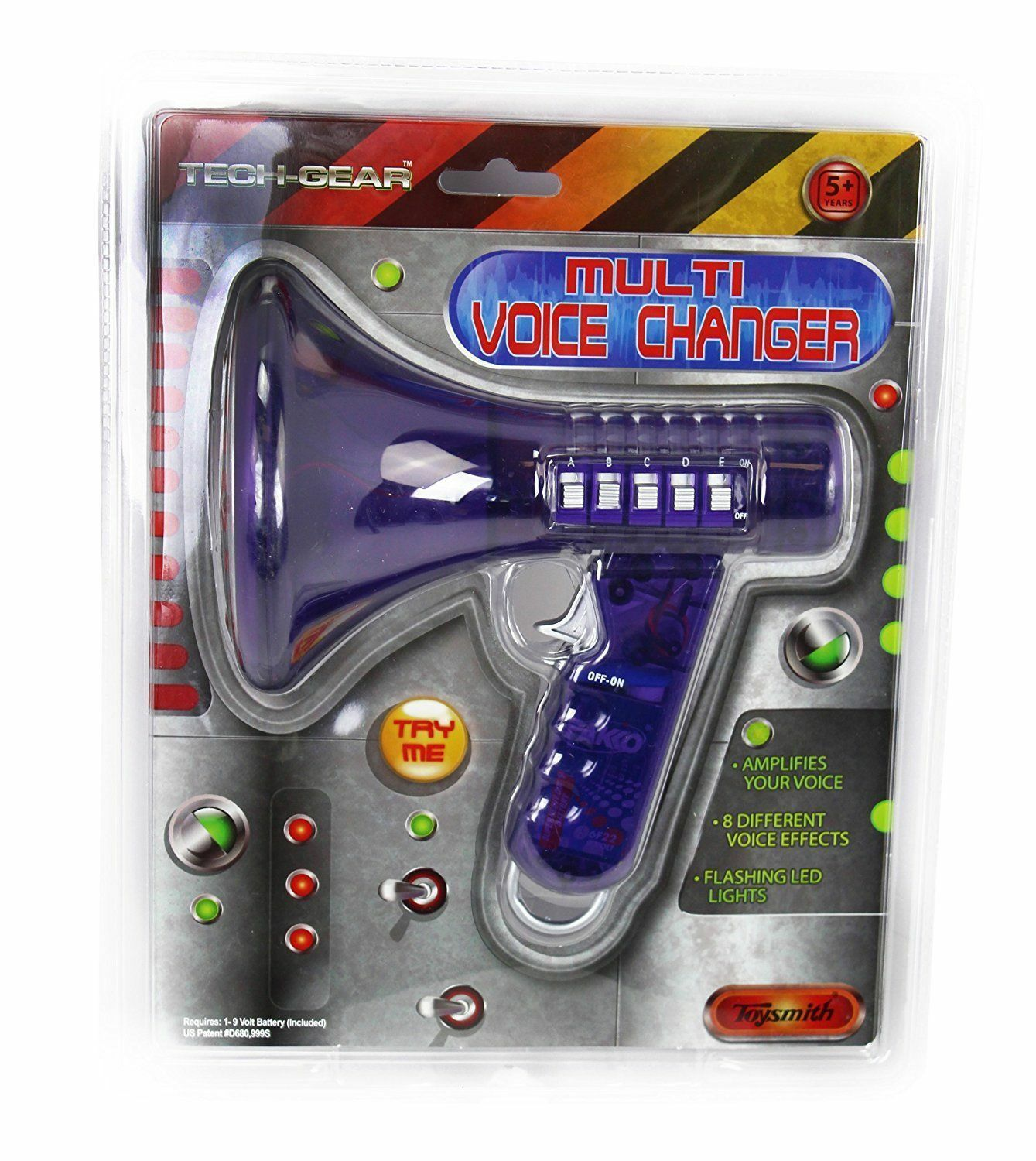 Multi Voice Changer - Toysmith, 10 Different Voices, Purple