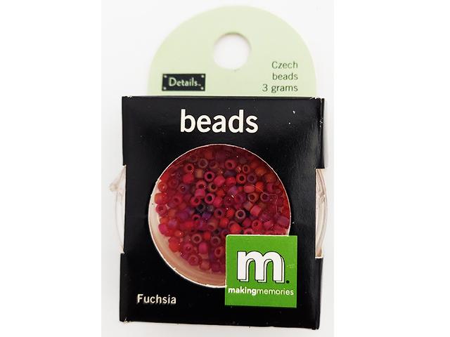 Making Memories Czech Seed Beads Fuchsia 3 Grams