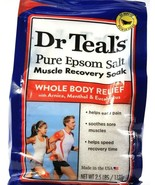 1 Dr. Teal's Pure Epsom Salt Muscle Recovery Soak Whole Body Relief Menthol - $19.99