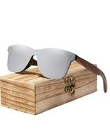 Mens Sunglasses Polarized Walnut Wood Mirror Lens Sun Glasses Brand New ... - $17.15
