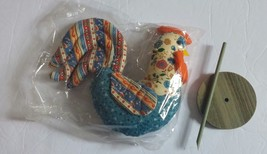 Avon Patchwork Pals Pomander Rooster Vintage 1986 Box Included Sealed - $15.79