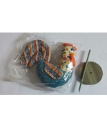 Avon Patchwork Pals Pomander Rooster Vintage 1986 Box Included Sealed - $15.79