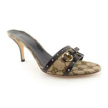 GUCCI Size 7.5 GG Signature Slide Heels Pumps Shoes 38 Eur - $279.00