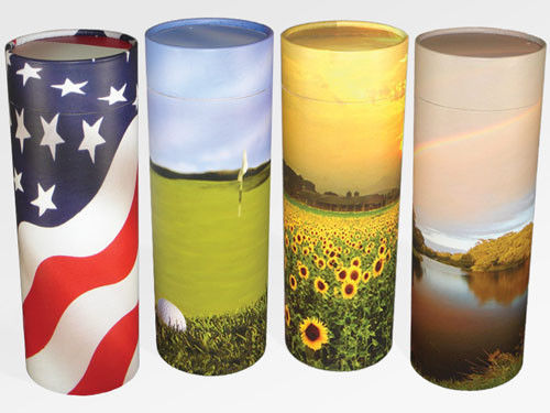 Biodegradable Ash Scattering Tube Cremation Urn Keepsake-CAN Be Personalized