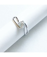 US 4.5 - Engagement Solitaire Twisted Shank April Birthstone Cz 925 Silv... - $84.99