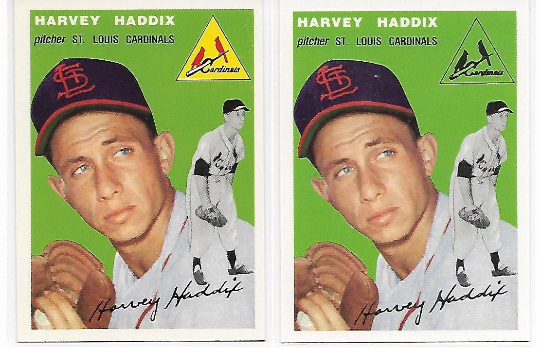 1954 Topps Archives St. Louis Cardinals Harvey Haddix #9 Gold & Regular 2Cards