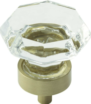 "Amerock Traditional Classics Cabinet Knobs, 1-1/4"", Clear/Golden  - $6.00"