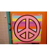 """Peace Symbol "" METAL DECORATIVE SIGN DENNIS EAST INT. 11 1/4"" Sq # 31188 - $9.89"