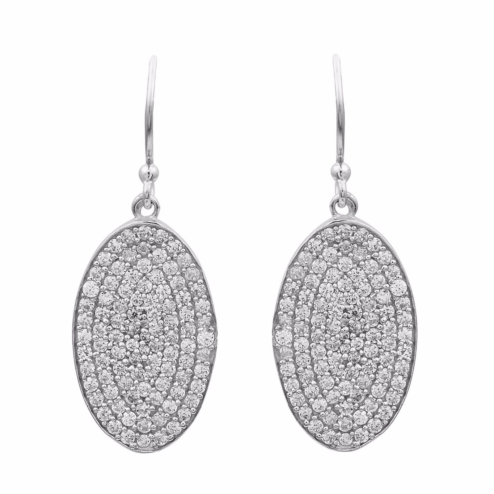 Exclusive Cubic Zirconia 925 Sterling Silver Earring Shine Jewelry SHER0801