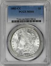 1883-CC $1 Morgan Dollar PCGS MS66 Blast White Carson City Rare Coin Sil... - $775.00