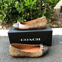 Brand New Coach Women's KHAKI/MAHOGANY Leila Shoe FG1264 Size 7.5B - $70.11