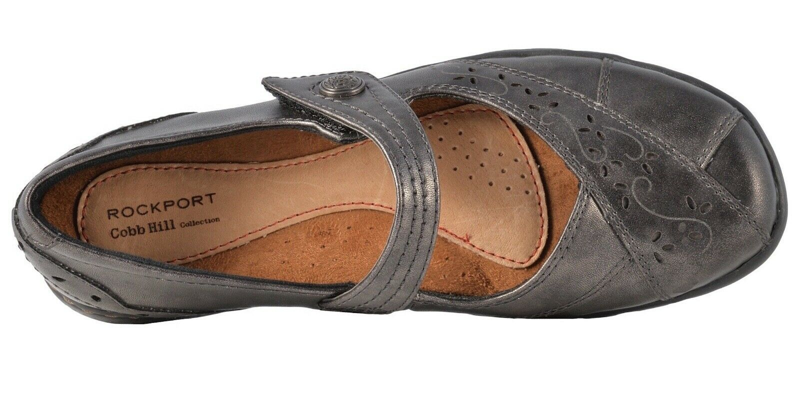 Womens Rockport Cobb Hill Petra Mary Jane - Pewter Leather [CAG26PT]