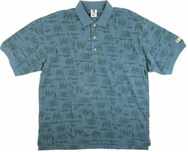 XL Men's Columbia Short Sleeve Polo Shirt Cotton Knit Fishing Lure Print