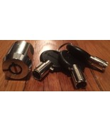 Chateau E-Z Cylinder LOCK 3 KEYS Self Storage Brass Bezel C-480 Maximum ... - $14.99