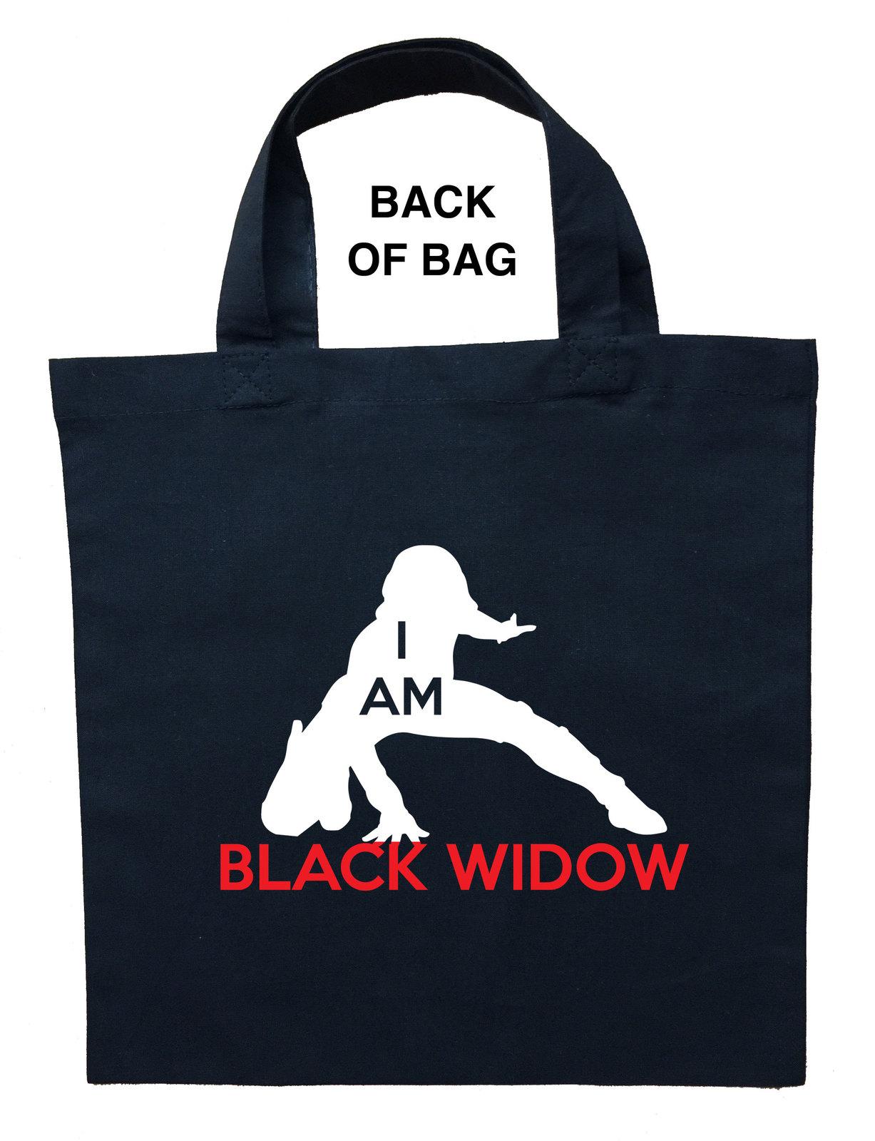 Black Widow Trick or Treat Bag, Custom Black Widow Halloween Loot Bag