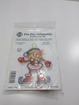 NMI Pin Pal Ornament Needlepoint Kit Christmas Girl Skater 5615 - $11.75
