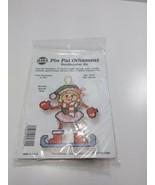 NMI Pin Pal Ornament Needlepoint Kit Christmas Girl Skater 5615 - $11.75