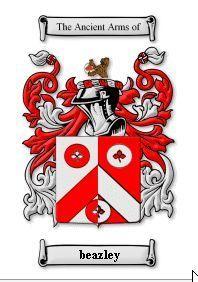 BEAZLEY SURNAME COAT OF ARMS PRINT - GENEAL Bonanza