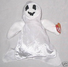 """White 7"""" Ghost Beanie Baby """"Ty Sheets"""" October Teddy Bear  - $8.24"""