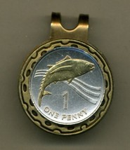 St. Helena Island Penny, 2-Toned Gold on Silver coin golf marker - $55.00